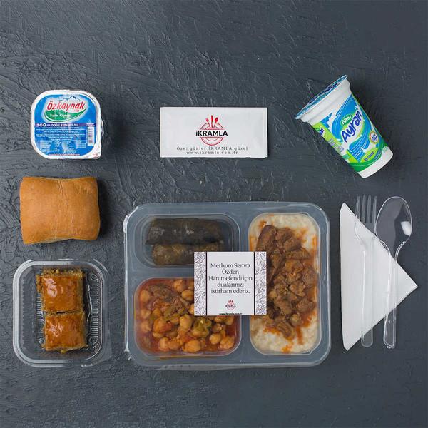 İkramla - Geleneksel Etli Keşkek Menü (Menüye dahil tatlı Tulumbadır. Su ve ekmek seçmelidir)